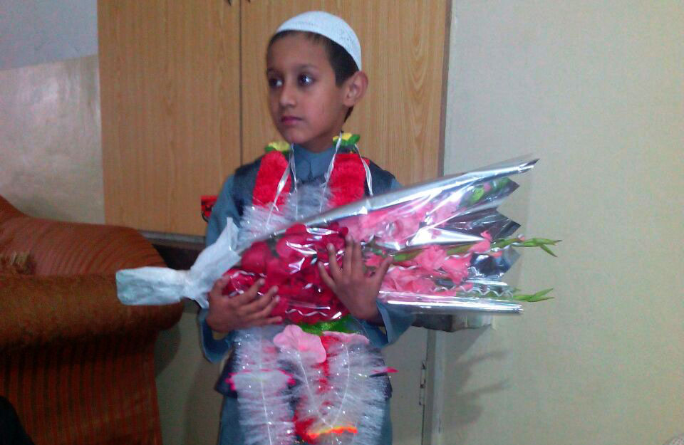 Kid completed Holy Quran recitation